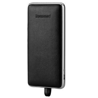 Tronsmart Prime 10000mAh Genuine Leather Power Bank with Built-in Lightning Cable