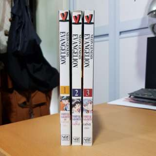 Neon Genesis Evangelion Manga Volumes 1, 2, 3 in English