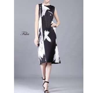 Premium. Fuka Pleat Dress. Free Size.
