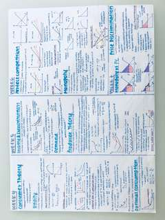 ECONS101 cheatsheet notes SMU