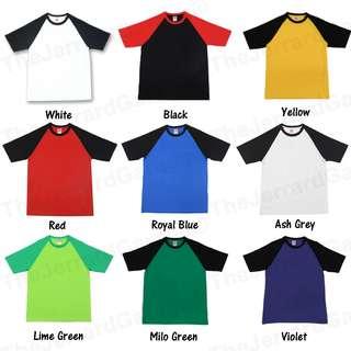 Raglan Sleeve Cotton T-Shirt & Printing Customization