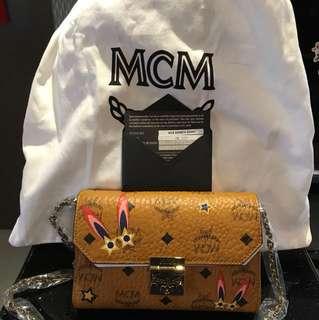 MCM Millie Visetos Flap Crossbody Bag In Brown