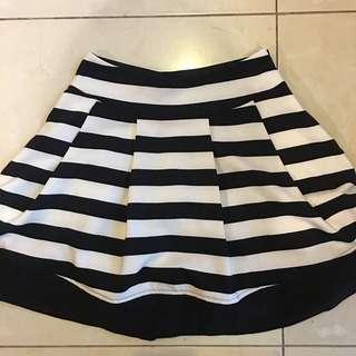 MDS Stripe Skater Skirt