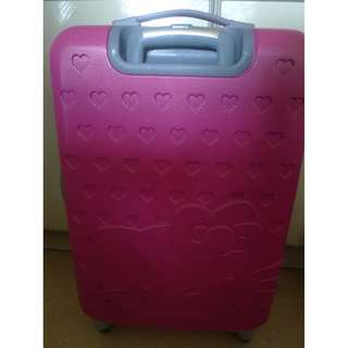 Pink Hello Kitty luggage cabin luggage travel luggage with cracks on the handle & front