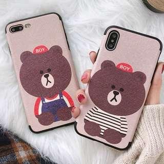 #手機殼IPhone6/7/8/plus/X : 可愛小熊造型