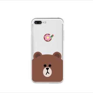 [包郵] Line friends iPhone case brown  熊大手機殼套