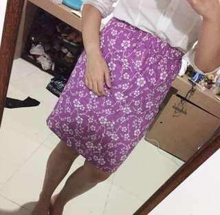 Floral batik skirt