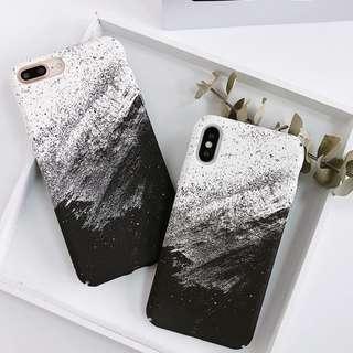 #手機殼IPhone6/7/8/plus/X : 創意黑白藝術