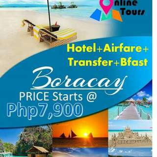 BORACAY TOUR PACKAGE with Airfare