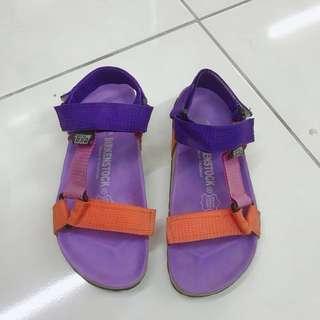 泰國帶回 繽紛色魔鬼氈涼鞋(非勃肯)