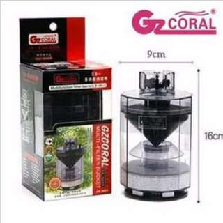 GZCORAL CR 8800 Multi Filter Bucket Aquarium Filter with Media