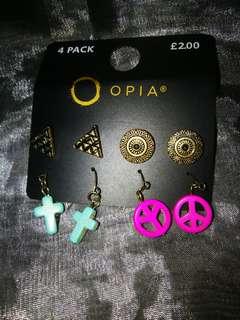 Opia Earrings (all 4)