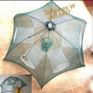 Fish trap enhanced 6 Holes Fish Net Cage Umbrellal shape 6 holes for  shrimp fishing  Loach crab cage Fun Hobby
