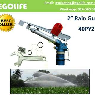 "Irrigation 2"" Rain Gun 40PY2H, Farm & Garden Spray Jet RG200"