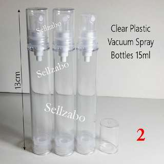 15ml Vacuum Spritz Spray Clear Plastic Bottles Skin Care Press Sellzabo Refill Transfer Face Facial Skincare Water Mist Solution Liquid Toning Toner Lotion