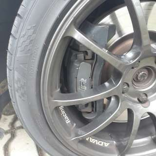 Golf R brake kit + Hawk HP+ pad