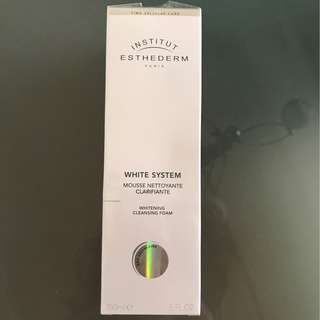 BN Institut Esthederm White System Whitening Cleansing Foam 5oz/150ml