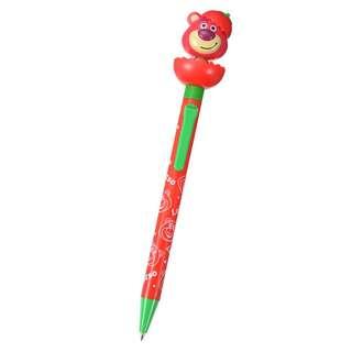 日本 Disney Store 直送反斗奇兵 Toy Stoty 勞蘇熊 / 士多啤梨熊 Lotso 擰頭黑色原子筆