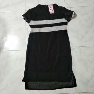 Black Casual Linen Dress