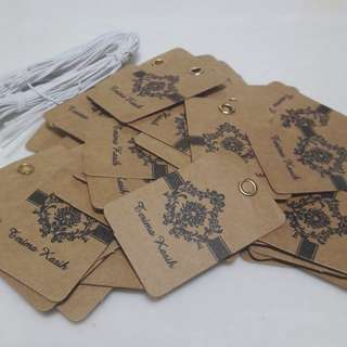 CLEARANCE Label Tag Terima Kasih Kraft Paper