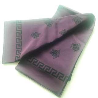 【Versace】scarf 絲巾 100% silk Italy