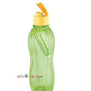 Tupperware Eco Water Bottle FLIPTOP 750ML FREE NAME TAG [LIME-GREEN]