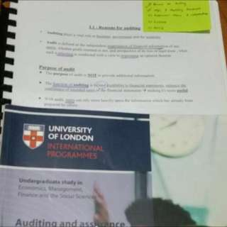 (JUST MEMORIZE THIS) UOL AUDIT AND ASSURANCE NOTES!