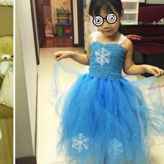 Frozen dress fluffy 4-6T