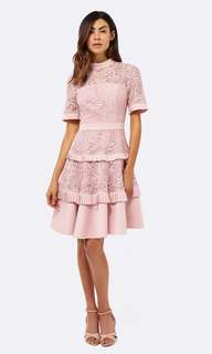 Forever New Raine Spliced Dress in Blush Pink