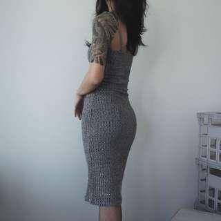 pare bodycon knit dress