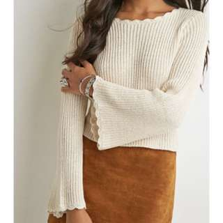 F21 bell sleeve slouchy sweater