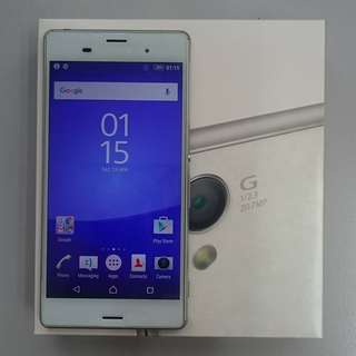 Sony Xperia Z3 White Fullset Good Condition