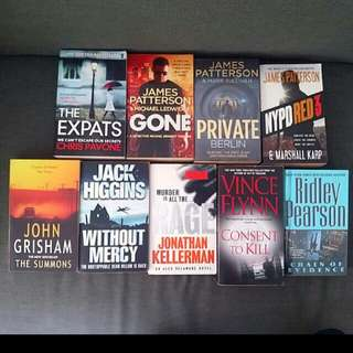 9  Without Mercy Jack Higgins / London Bridge  You''ve Been Warned James Patterson / The Summons John Grisham / Consent To Kill Vince Flynn ( Tag Thriller Suspense Business Management Jc English Novel Acca Smu Ntu Nus)