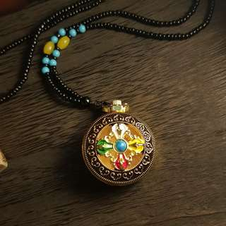 Tibetan handmade metal crafts necklace