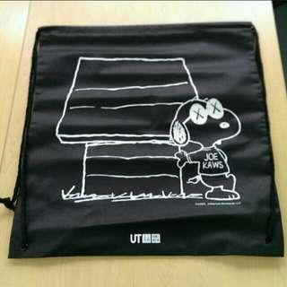 Kaws black Snoopy plush