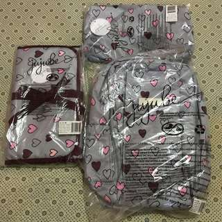 Bnip bnwt Ju-ju-be jujube JJB happy Hearts HH quick change pad minibe mb cp changepad