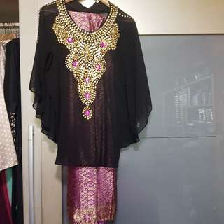 Kaftan top with skirt