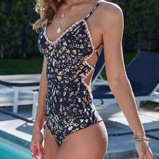 Floral DesignOne Piece Swimsuit