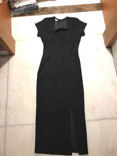 long dress formal hitam