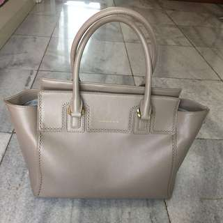 Charles & Keith Grey Tote Bag