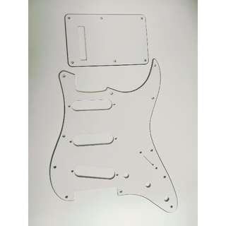 Fender 3ply back plate and pick guard for strat white