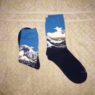 Iconic Art Socks - The Great Wave off Kanagawa by Hokusai Classical Art
