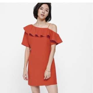 Love Bonito LB Aryn Ruffled Off Shoulder Dress (Size XL)