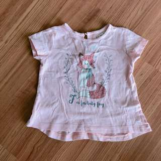 Zara baby girl pink top