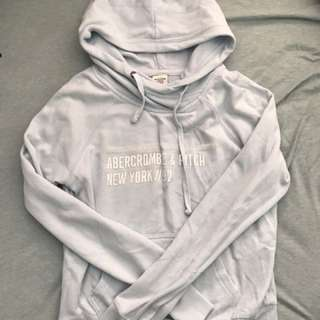 Abercrombie and Fitch hoodie sky blue