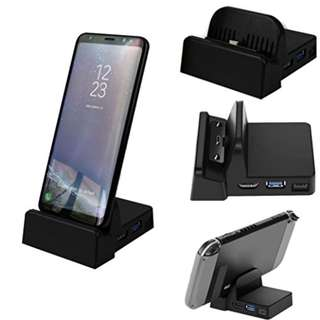 HDMI Dex Station Desktop, Freshzone Extension Charging Dock For Samsung S8 S8 Plus + Note 8,Black