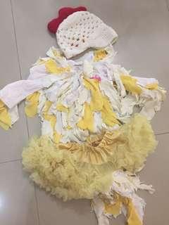 Halloween costume (little chick) handmade