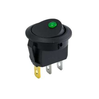 On-Off Round Rocker Switch (Dot Light)