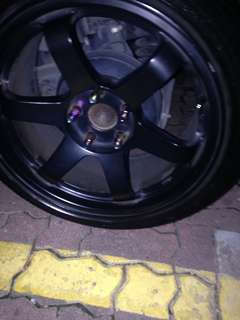 "17"" rota concave rim only"