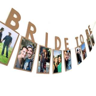 BRIDE TO BE Photo Banner